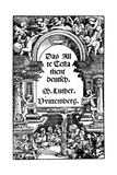 Title Page of Luther's Translation of the Old Testament  1534