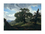 Memory of a Wooded Island in the Baltic Sea (Oak Trees by the Se)  1835