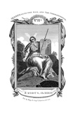 Moses with the Rod, and Ten Commandments, C1808 Giclée