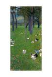 After the Rain (Garden with Chickens in St. Agath), 1898 Giclée par Gustav Klimt