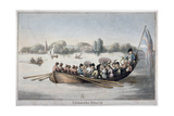 View Showing Figures in a Rowing Boat on the Thames at Chelsea Reach  London  1799