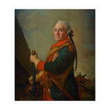 Portrait of Maurice De Saxe  Marshal of France  18th Century