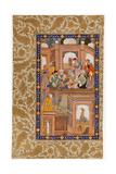 Sufi Reunion  Miniature from Nafahat Al-Uns (Breaths of Fellowshi)