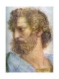 Aristotle Stanza Della Segnatura the School of Athens (Detail)  1509-1511
