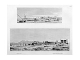 View of Luxor  and the Temple of Thebes at Luxor  Egypt  C1808