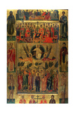 The Ascension of Christ with the Hetoimasia  15th Century