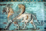 Griffin-Lion Relief in Glazed Brickwork, Achaemenid Period, Ancient Persia, 530-330 Bc Papier Photo