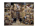 Archduke Leopold Wilhelm in His Gallery in Brussels  1647-1651