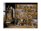 Archduke Leopold Wilhelm in His Gallery in Brussels  Ca 1651