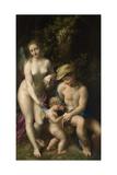 Venus with Mercury and Cupid (The School of Love)  C 1525
