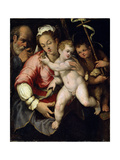 The Holy Family with John the Baptist  16th Century