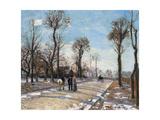 Route De Versailles  Louveciennes  Winter Sun and Snow  C 1870