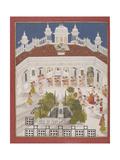 Maharana Ari Singh Worshipping in His Palace  1765