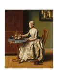 A Lady Pouring Chocolate (La Chocolatièr)  C 1745