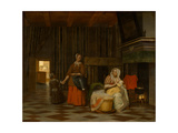 Woman and Child with Serving Maid  1663-1665