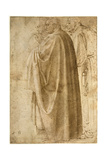 Three Standing Men in Wide Cloaks Turned to the Left  Ca 1492-1496