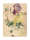 Flower Piece with Iris  Laburnum  and Geranium  1880