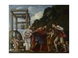 Moses Defending the Daughters of Jethro, 1610 Giclée par Carlo Saraceni