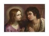 Christ Embracing Saint John the Baptist  C 1640