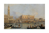 View of the Doge's Palace in Venice  before 1755