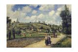 Landscape Near Pontoise  the Auvers Road  1881
