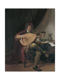 Self-Portrait Playing the Lute  Ca 1665