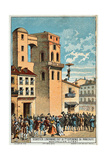 Lenormand Jumps from the Tower of the Montpellier Observatory  1783  19th Century