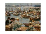 On the Alster in Hamburg  1910