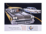 Poster Advertising the Ford Fairlane Car  1958
