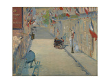 The Rue Mosnier with Flags  1878