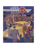 Poster Advertising Buick Cars  1936