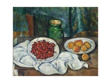 Still Life with Cherries and Peaches  1885-1887