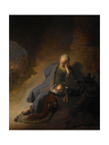 Jeremiah Lamenting the Destruction of Jerusalem, 1630 Giclée par Rembrandt Van Rijn