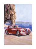 Poster Advertising an Alfa Romeo 6C 2500 Super Sports  1948