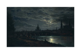 View of Dresden by Moonlight  1839