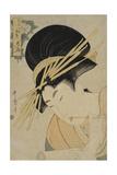 Courtesan Hanaogi of the Ogiya House  1801