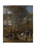 Skittle Players Outside an Inn  Ca 1663