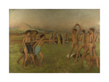 Young Spartans Exercising  Ca 1860