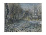 Snow-Covered Landscape, 1870-1875 Giclée par Pierre-Auguste Renoir