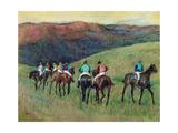 Racehorses in a Landscape, 1894 Giclée par Edgar Degas