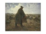 Shepherd Tending His Flock  Early 1860S