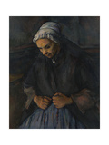 An Old Woman with a Rosary, C. 1895 Giclée par Paul Cézanne