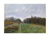 Landscape at Louveciennes  1873