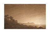 View of Arkona with Rising Moon  Ca 1806