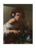 Boy Bitten by a Lizard  Ca 1595