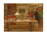 Préparation pour un jeu, 1901 Giclée par Carl Larsson
