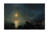 Ancient Greek Poets by the Water's Edge in the Moonlight  1886