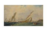 Frigate on a Sea  1838