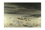 The Diligence in the Snow  1860