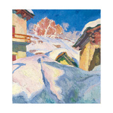 Capolago in Winter with a View of Piz Lagrev  1928